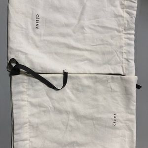2 Celine dust bags (one discolored)